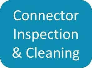 Optical Connector Inspection & Cleaning button