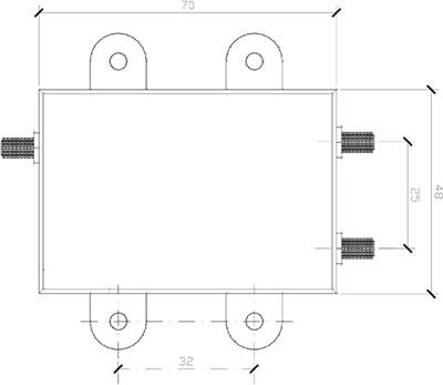 Orolia GPSdome dimensions