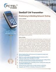 PCTel SeeGull CW Transmitter spec sheet