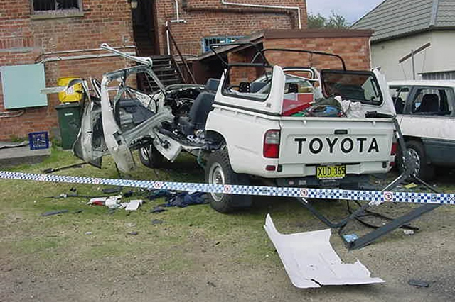 damage from gas cylinder explosion